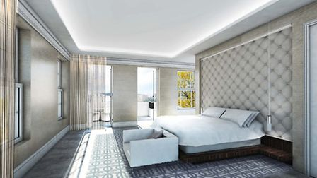 Visualisation of the proposed new master bedroom suite