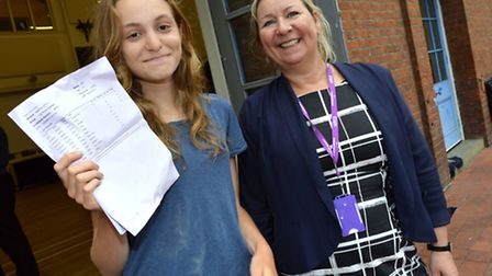 LaSWAP pupil Lily Baldwin, 18, who scored A*, A, A in her A-levels and is heading to Cambridge Unive