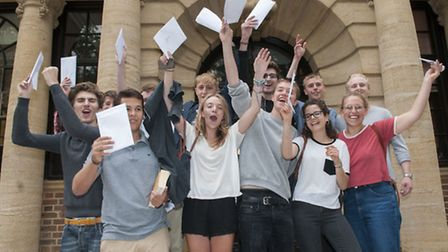 UCS pupils receive their A-level results. Picture: Nigel Sutton