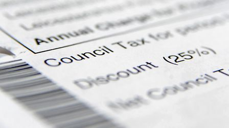 General view of a council tax bill.