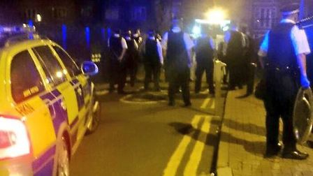 Photo at the scene from Twitter, @LAS_JRU