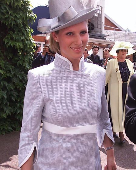 Zara Phillips wearing Ashley Isham at Royal Ascot races in 2002. Princess Anne's daughter was going