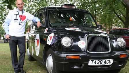 The black cab which had been 'modified' by the council for back seat filming