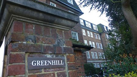 Dame Edith Sitwell blue plaque at Greenhill in High Street, Hampstead. Picture: Nigel Sutton