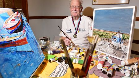Ron Hemp,90, is appealing for businesses to help display his paintings so they can be sold and raise money for Help for...