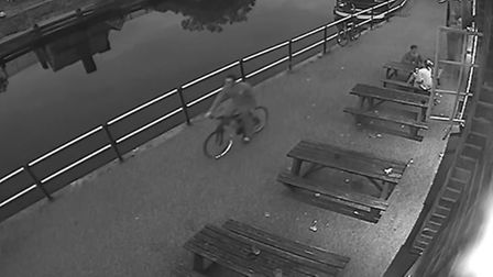 Police want to locate the man on the bike