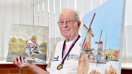 Ron Hemp,90, is appealing for businesses to help display his paintings so they can be sold and raise