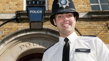 PC Andrew Harris hopes to save life of female cancer patient