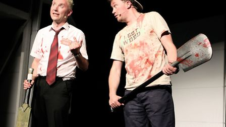 Chas Burns and Ross Millward in Shaun of the Dead Live. Picture: Kim Carter