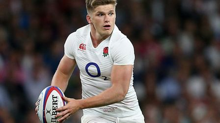 Saracens' Owen Farrell in action for England