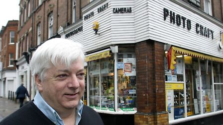 Keith Wynn owner of Photocraft which is closing next week after more than 50years