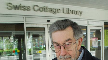 Alan Templeton outside Swiss Cottage Library