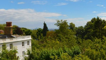 Panorama of the views from the property