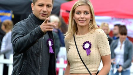 Special guest judges Pasha Kovalev and Rachel Riley at Pup Aid