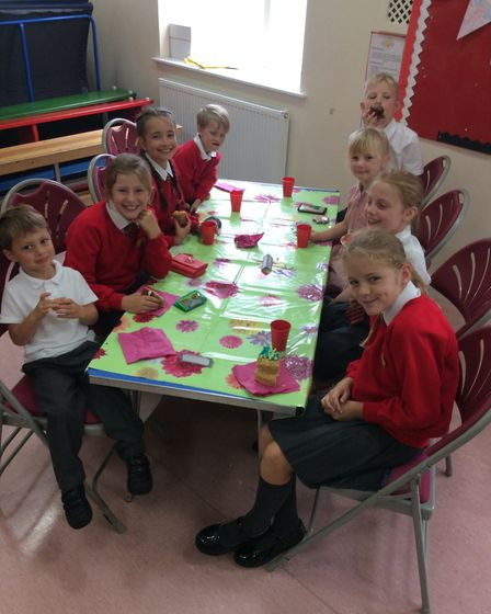 A Macmillan Coffee Morning held at Corton Primary School raised £205.16. Pictures: Mrs Blyth