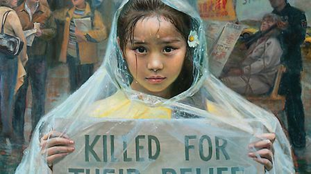The painting, Call of Innocence, which is in the exhibition