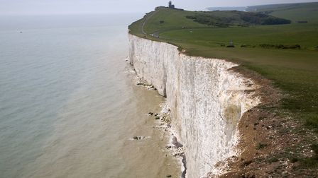 Beachy Head lighthouse and chalk cliffs, East Sussex view to Belle Toute lighthouse (Photo by: Geogr