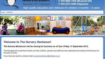 The Muswell Hill and Highgate nurseries will close tonight at 7pm after the damning Ofsted report wa
