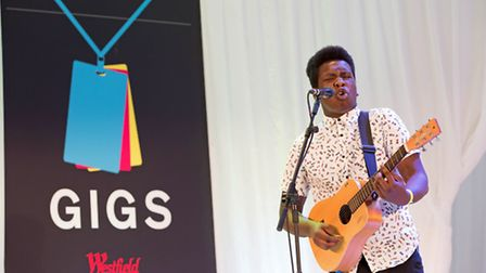 Josh Tenor performing in the busking competition. Credit: Kois Miah