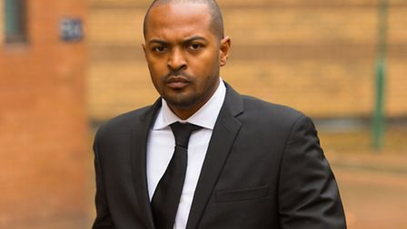 Noel Clarke arriving at Hammersmith Magistrate's Court,