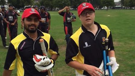 Abul Kasimnalla (left) and Scott Doody of Hackney CC