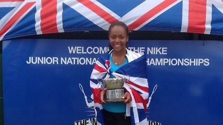 Hackney tennis player Lauryn John-Baptiste