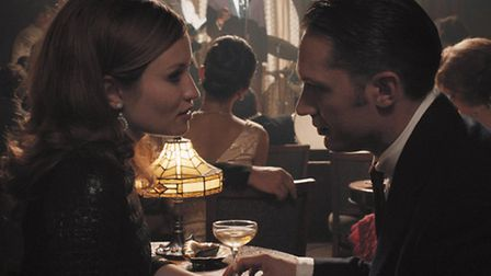 True-crime movie Legend with Emily Browning as Frances Kray and Tom Hardy as Reggie Kray