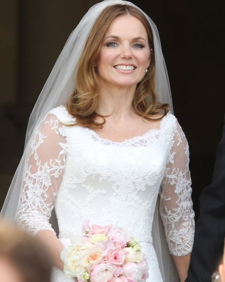Geri Halliwell on her wedding day earlier this year. Picture: PA
