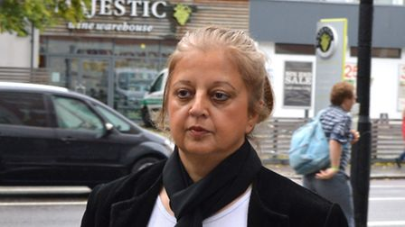 Neelu Berry, who was cleared of all charges, arriving at Highbury Corner Magistrates' Court yesterda