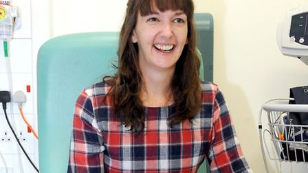 Pauline Cafferkey as she was discharged from the Royal Free in January