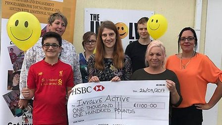 Involve Active were boosted by funds raised during a parachute jump. Picture: Courtesy of Involve Active