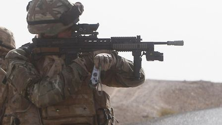 Soldiers during a patrol in Helmand Province,