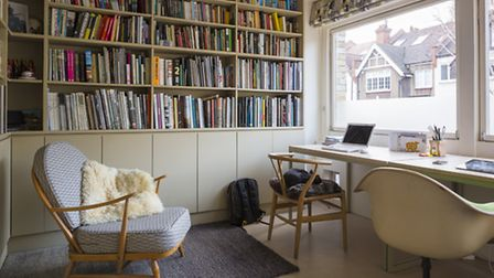 The new extension allowed for the addition of a study. Photo: Tim Crocker