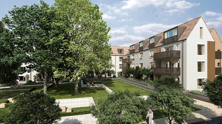 An impression of how Woodside Square will look when finished