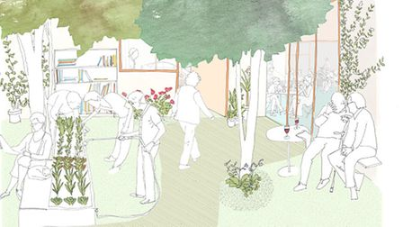 Initial ideas sketches for Britain�s first LGBT elderly care home. Picture: Publica (publica.co.uk)