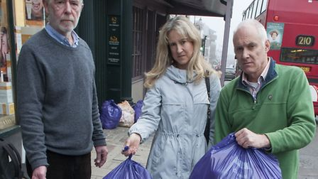 Vet Allan Rapley with Highgate councillors Liz Morris and Clive Carter urge Haringey to clean up its