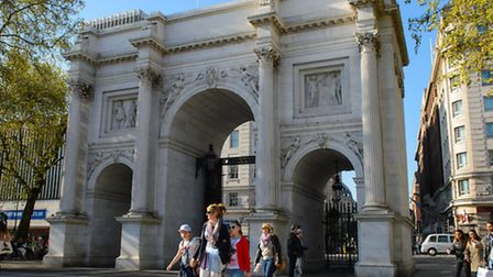 Marble Arch, in central London. Photo Dominic Lipinski/PA Wire