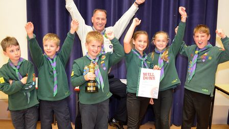 Cubs quiz winners 1st Blundeston. Pictures: Mick Howes