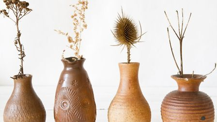 Vases with twigs
