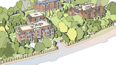 Aerial view of the proposed new development
