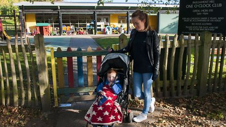 Mother-of-two Sian Woods is concerned at the plans to stop staffing the One O'Clock Club and other H