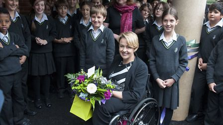Baroness Tanni Grey-Thompson opens the new Archer Academy campus. Picture: Nigel Sutton