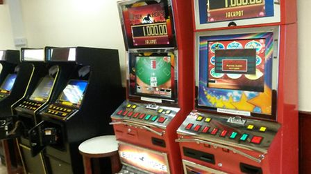 Some of the gambling machines that were seized