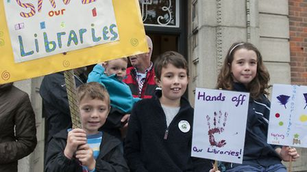 Children's March for Barnet Libraries. Picture: Nigel Sutton