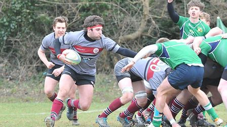 UCS Old Boys' Stefan Filip scored two tries and would have had a hat-trick but for a knock-on. Pic: