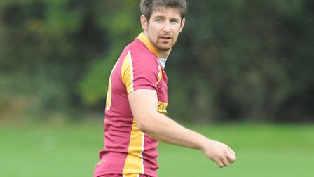 Dan Dimoline scored Hampstead's first two tries and kicked three conversions. Pic: Paolo Minoli