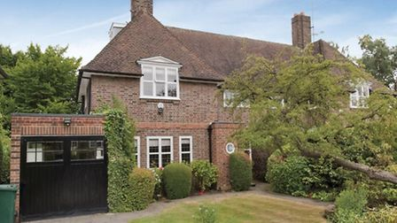 This house on Wildwood Terrace in Hampstead Garden Suburb sold at the start of October for £1,600,00