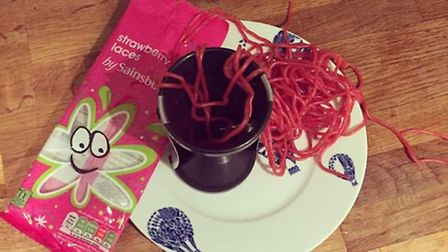 The alternative to spiralising - strawberry laces