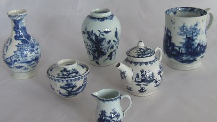 Photos of some of the main items in the Lowestoft Porcelain sale. Pictures: Courtesy of Zoe Sprake