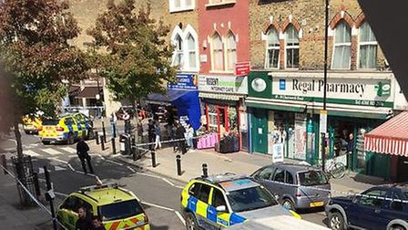 The scene of the shooting, photo Michael Healy